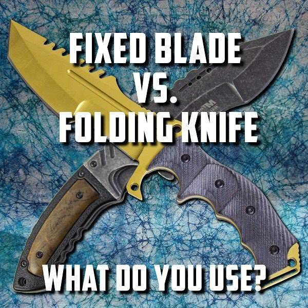 fixed knife vs folding knife comparison